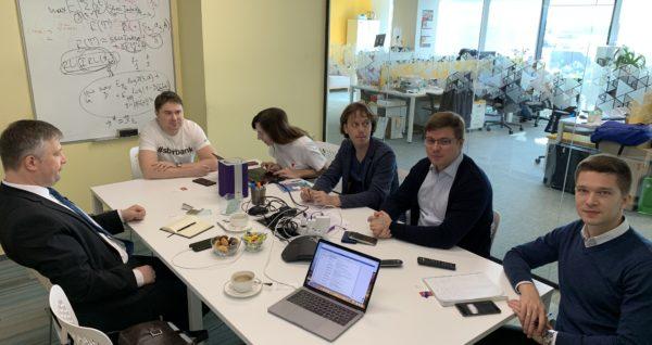 Встреча с коллегами из Сбербанк