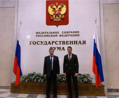 М.В. Абрамов и А.Л. Тулупьев на парламентских слушаниях (21.10.2019)